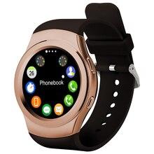 2016 heißer Runde Bluetooth Smart watch SmartWatch Unterstützung SIM TF karte SMS MP3 MP4 USB Für apple iPhone IOS Android uhr