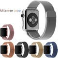 Luxury Milanese Loop strap & Link Bracelet Stainless Steel Band Adjustable Closure for Apple watch 42mm 38mm Watchband AWMLMCS