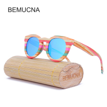2017 New BEMUCNA Wood Sunglasses  Womem fashionable Cat eye Sun Glasses by handmade Oculos de sol Mading LOGO For Free