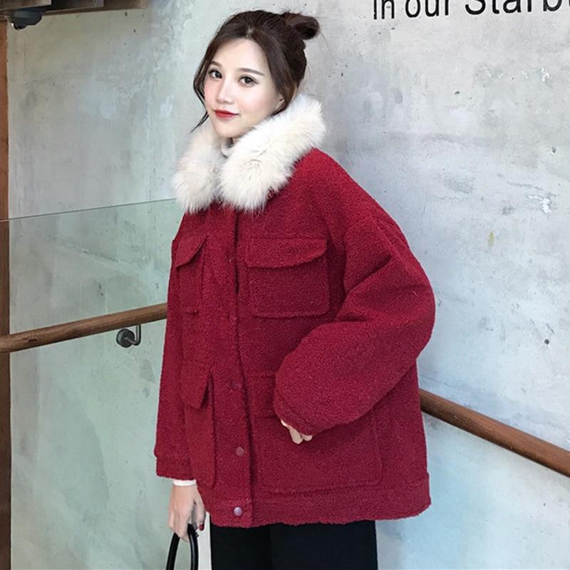 2019 winter coat women Korean fur collar loose thick cotton clothing casual wear cotton short coat women's jacket women parka