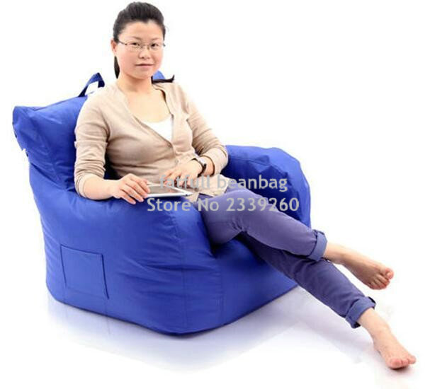 COVER ONLY , No Filler Big Joe Bean Bag Armchair, Original Beanbag Cushion  With Arm Rest. Waterproof With Handle Design In Living Room Sets From  Furniture ...