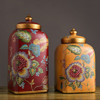 Ceramic Candy Jar Storage Jar Ornaments Creative Living Room Home Decorations Porch Ceramic Jar With Lid