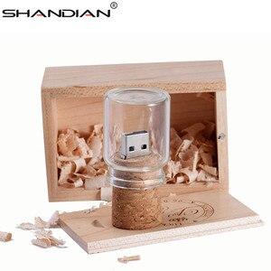 Image 4 - SHANDIAN new floating bottle pendrive 4GB 8GB 16GB 32GB 64GB glass wish bottles usb flash drive U disk memory Stick wedding gift