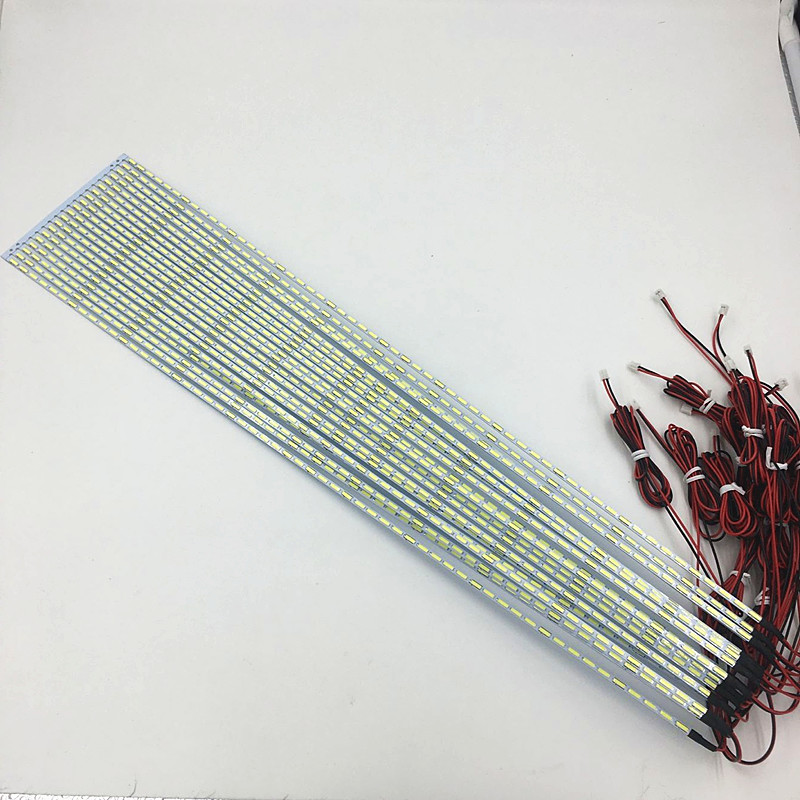 10pcs/lot 42inch 7020 LED Aluminum Plate Edge Strip Backlight Lamps Update For LCD Monitor TV Pane 475mm