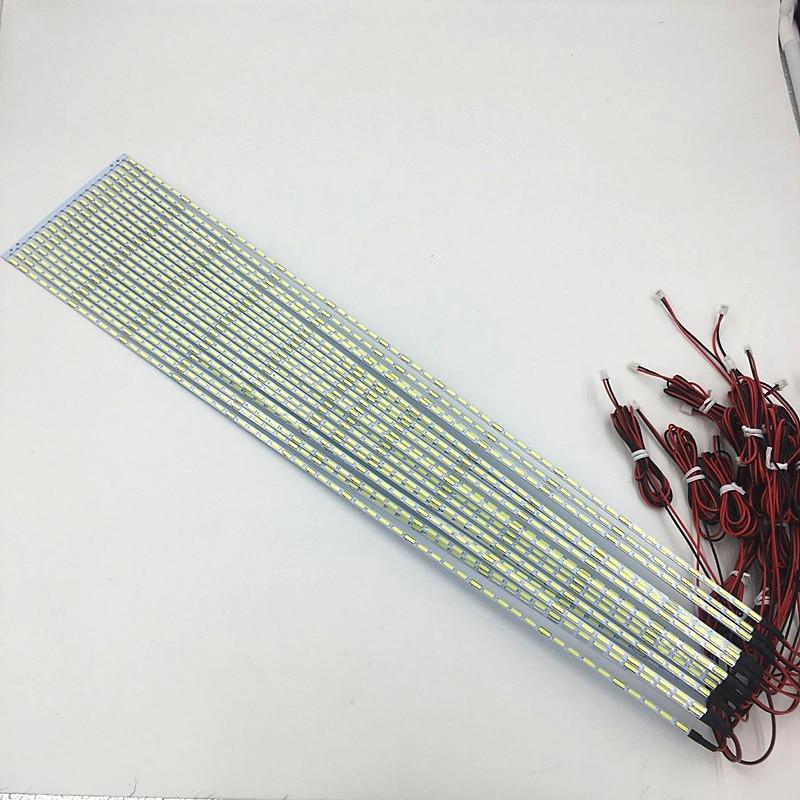 10pcs/lot 42inch 7020 LED Aluminum Plate edge Strip Backlight Lamps Update for LCD Monitor TV Pane 475mm