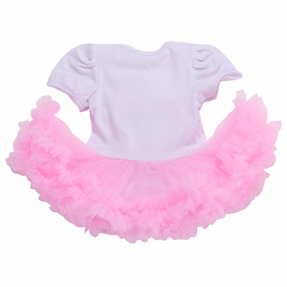 c1fa319ec Girl Baby Dress Birthday For Newborns Headband Set