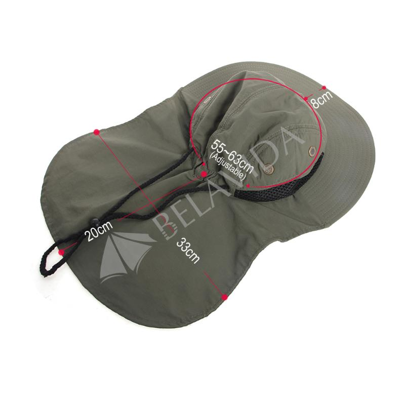 Boonie Fishing Boating Hiking Outdoor Snap Hat Brim Ear Neck Cover Sun Flap  Cap 2303b1b984ff