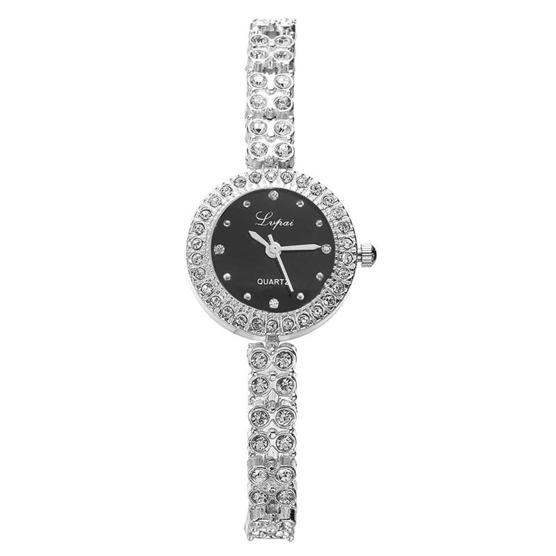 Womens Stainless Steel Rhinestone Bracelet Quartz Wrist Watch Xmas GiftWomens Stainless Steel Rhinestone Bracelet Quartz Wrist Watch Xmas Gift