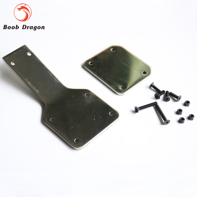 King Motor Baja Stainless steel front guard plate set for HPI Baja 5B Parts Free Shipping king motor baja front hydraulic brake system for hpi baja 5b parts rovan free shipping