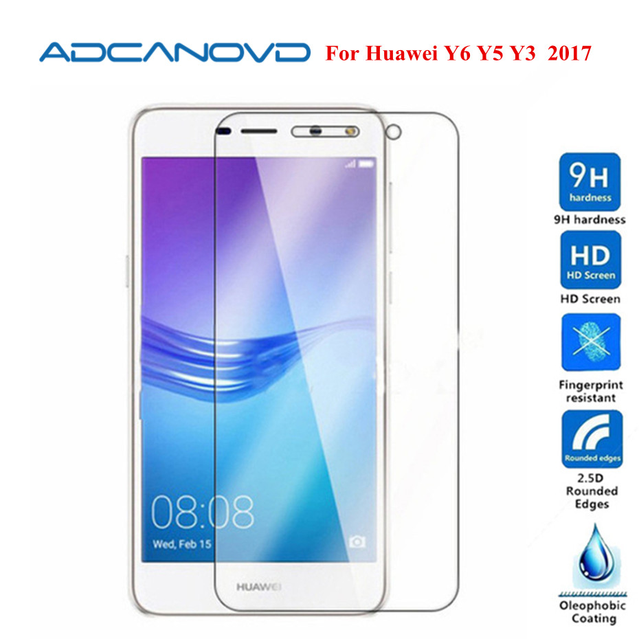 9H <font><b>Tempered</b></font> <font><b>Glass</b></font> For <font><b>Huawei</b></font> <font><b>Y6</b></font> <font><b>2017</b></font> Screen Protector <font><b>Huawei</b></font> <font><b>Y6</b></font> Y5 Y3 <font><b>2017</b></font> Protective <font><b>Glass</b></font> Film pelicula de vidro image