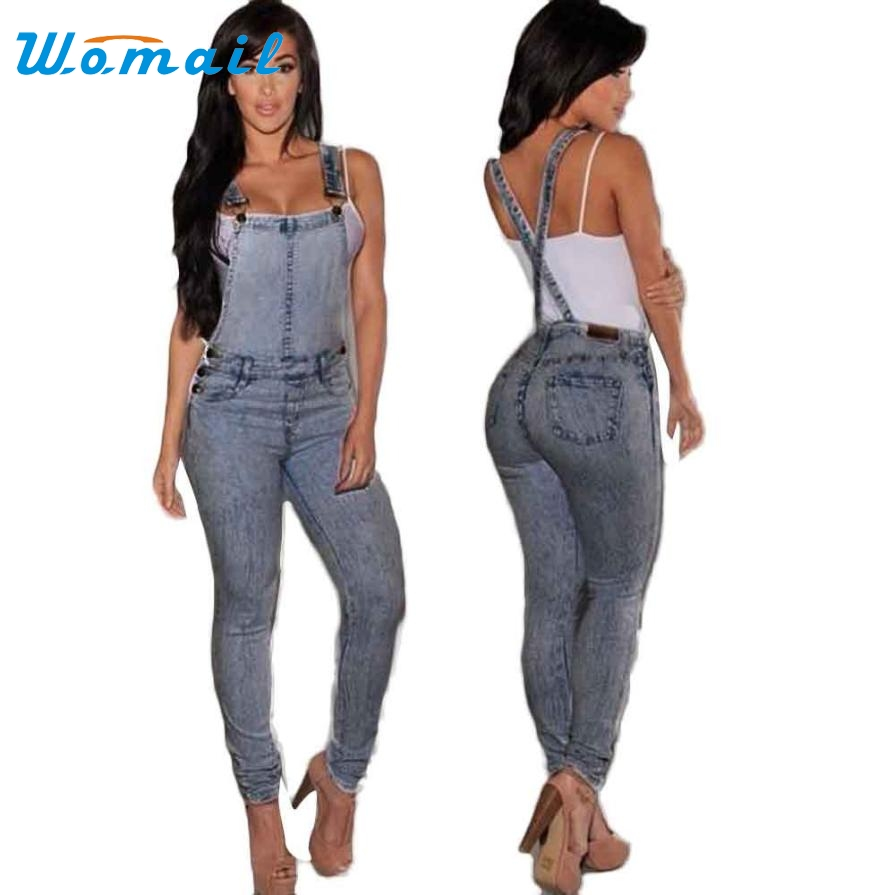 Fitted Denim Jumpsuit Breeze Clothing