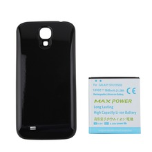 High Quality 5600mAh Extended Phone Battery For Samsung Galaxy S4 i9500 Battery + Black Back Cover Case for Samsung Galaxy S4 IV
