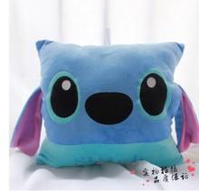 Free shipping 35cmStitch plush toys creative gifts cartoon hand warm  Cushion pillow children Stuffed toy