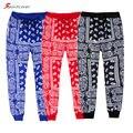 Calças Corredores Sweatpants Moda para Homens Caju Bandans Sportlover Cuffed Calças Homme Ocasional Dos Homens Das Mulheres do Hip Hop vermelho