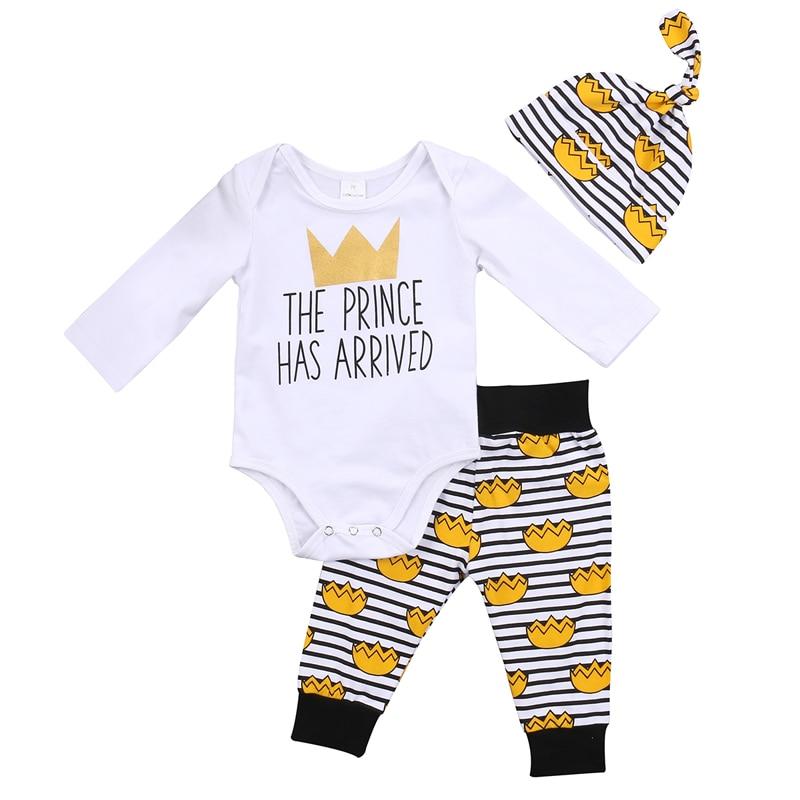Niedliche Neugeborenen Baby Jungen Prince Brief Kleidung Overall Hosen Outfits Set
