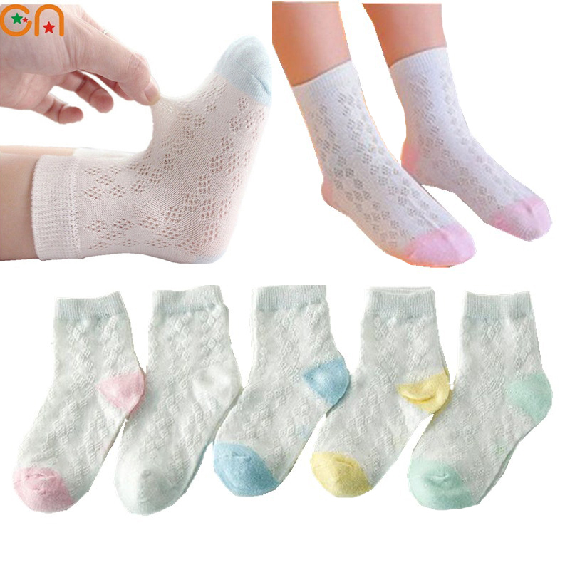 0-10 years 5pairs/lot Spring Summer new Kids Cute Infant Baby Socks Boy Girl Ultrathin Casual Mesh Socks Children cotton Socks enifield 235