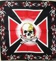 Бесплатная Доставка 2016 Новый Хип-Хоп Черный Красный прохладный череп Бандана Головные Уборы Для Мужчин/Женщин