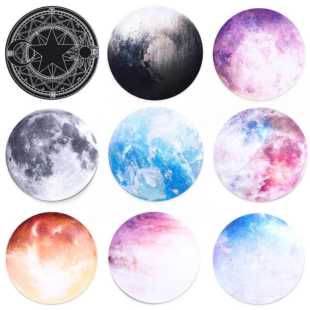 ラウンドマウスパッド惑星シリーズマット地球/ヴィーナス/火星/水銀/木星/冥王星/虹ムーン/黒ムーンコンピュータゲームパッドノンスリップ