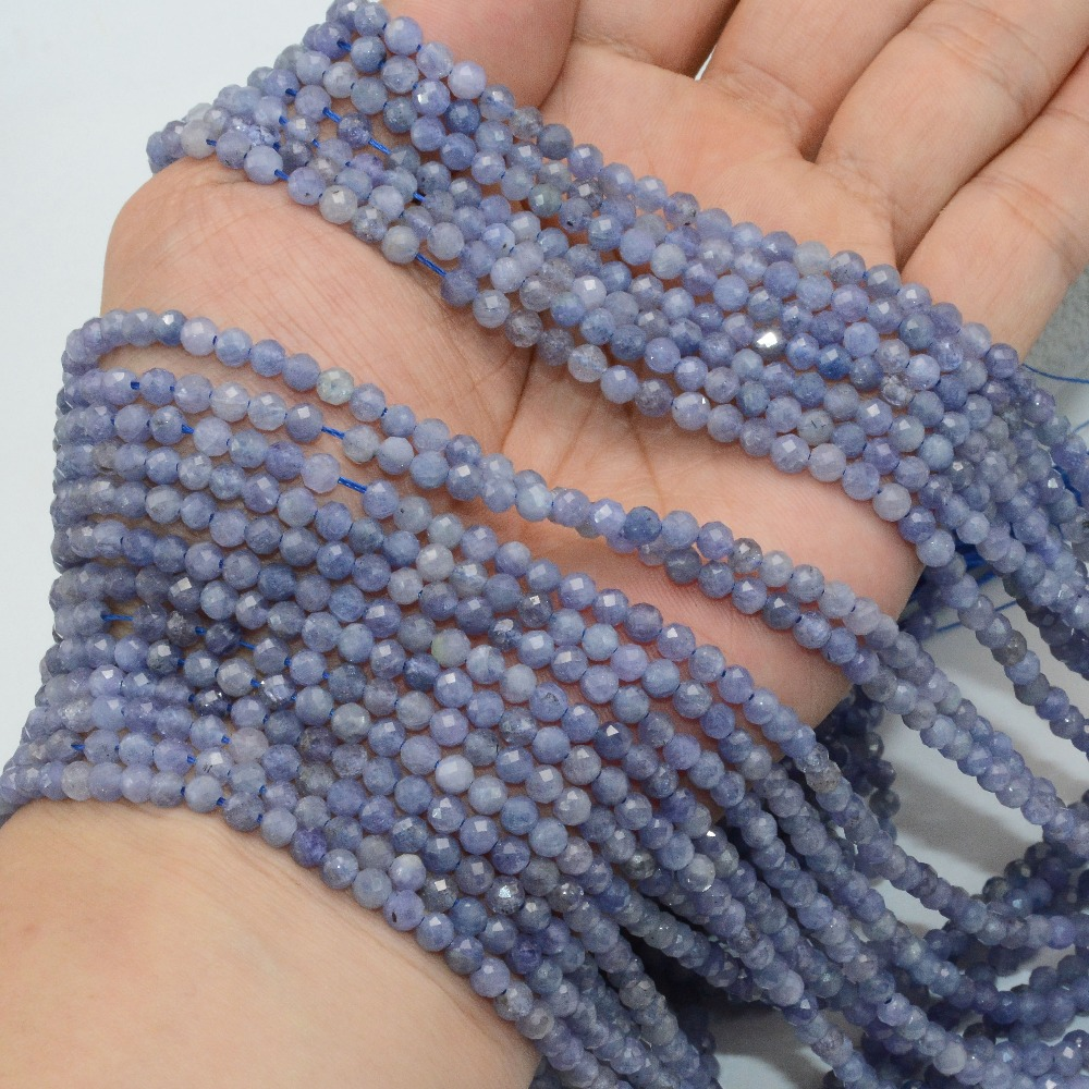HTB1dF5Id81D3KVjSZFyq6zuFpXa1 Natural Tanzanite Faceted Loose Round Beads 2.2mm / 3.5mm / 4mm