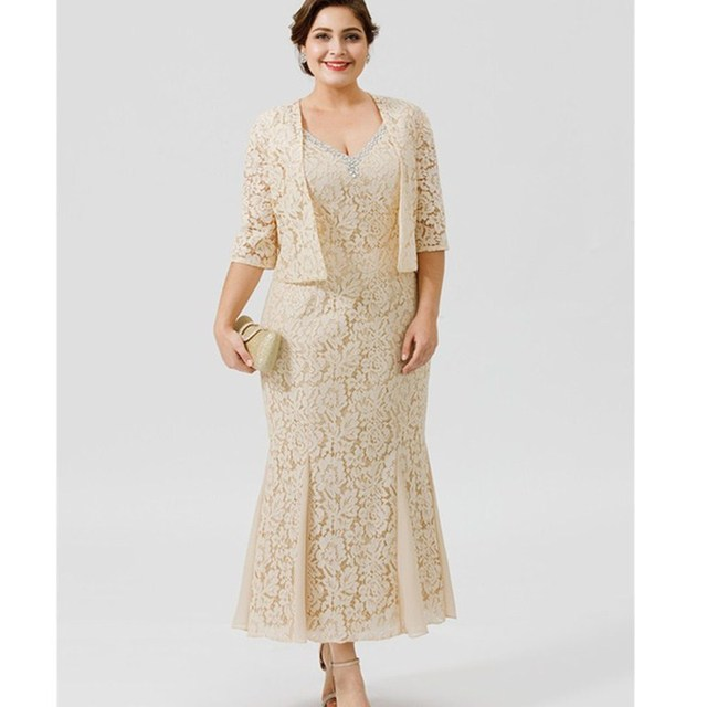 LAN TING BRIDE Mermaid Trumpet Chiffon Lace Mother of the Bride ...