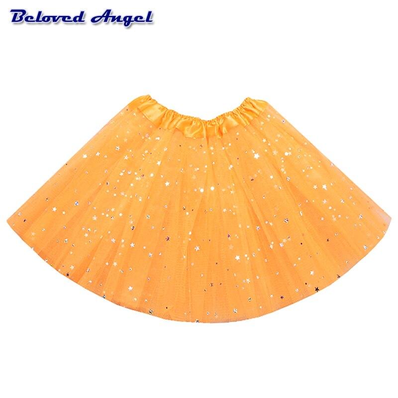 2-8Yrs Translucent Children Fluffy Pettiskirts Tutu Saias Baby Girls Skirts Princess Skirt Girls Ballet Dance Wear Party Clothes 2