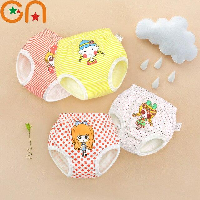 Kids 100% Cotton Underwear,Panties. Girls,Baby,Infant cute cartoon,Dots,Striped shorts.For Children,Newborns Underpants gifts CN