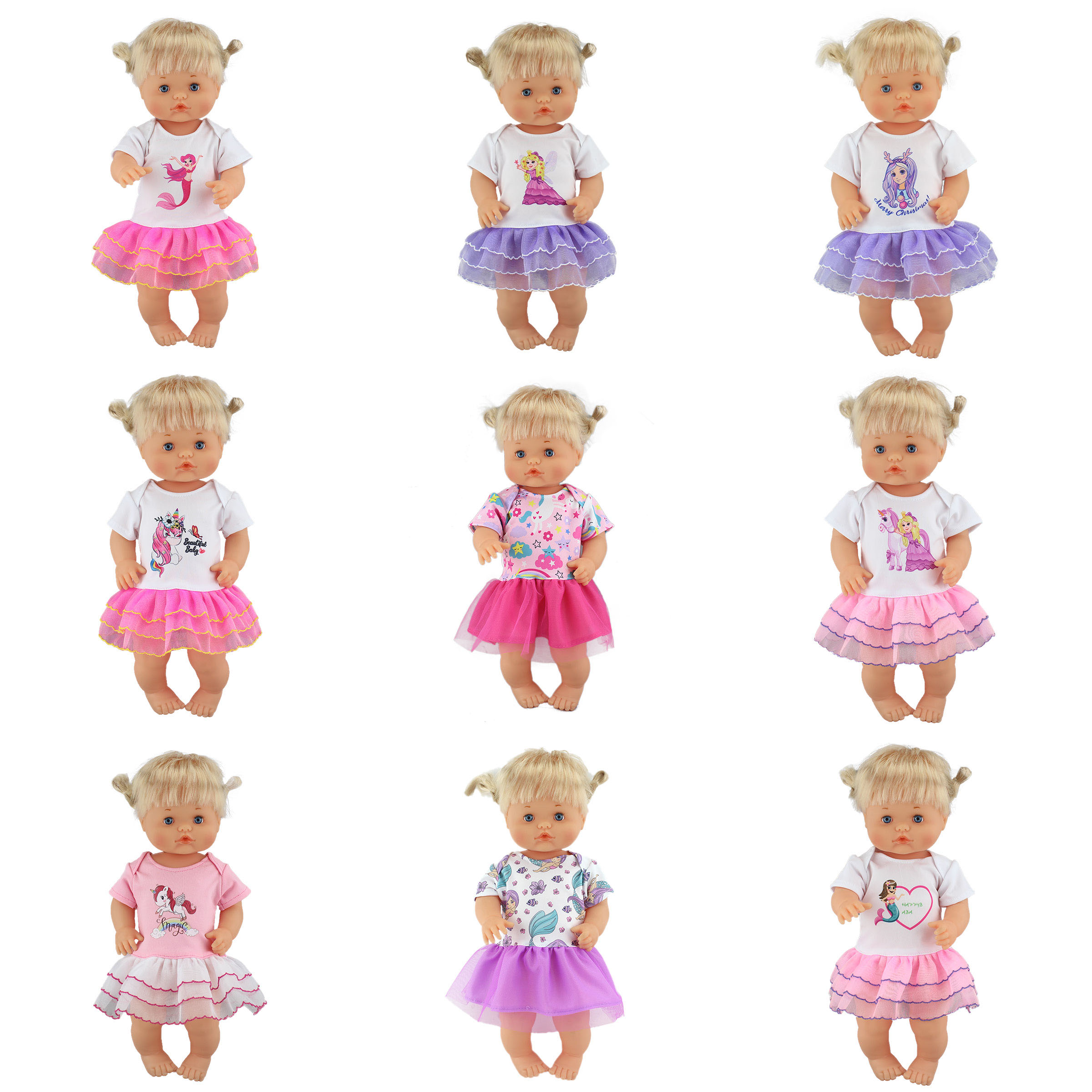 Candy Color Dress Set Doll Clothes Fit 42cm Nenuco Doll Nenuco Su Hermanita Doll Accessories