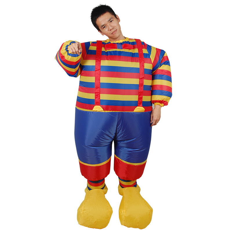 YHSBUY 2018 Adult Stripe Clown Cosplay Suits Children Giant Inflatable Costume Funny Party Outdoor Toys for Teens,HZ011