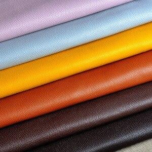 Image 3 - 100*138cm Litchi Sentetik Deri PU Deri Kumaş Suni suni Deri Kumaşlar DIY Çanta Kanepe Dekorasyon Dikiş Malzemeleri Düz renkli Sahte Yapay Suni Deri Kumaş Dikiş DIY Çanta Ayakkabı Malzemesi