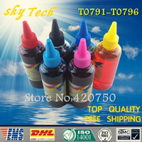 Dye Refill Ink Suit For Epson T0791 T0796 Cartridges Suit For Epson 1430 1400 PX700W PX800FW