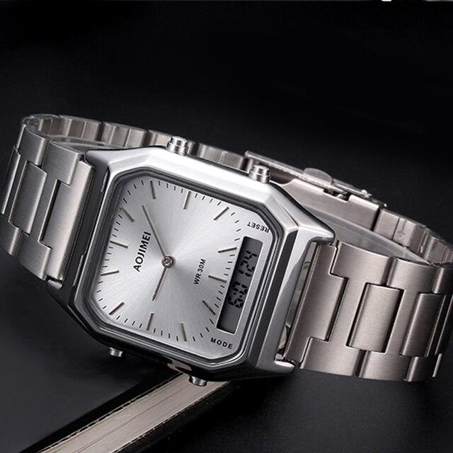 1dc6a3640c5 Nova AOJIME Marca Simples Homens Data Display LED Esporte Relógios de Luxo  Digital de Quartzo dos
