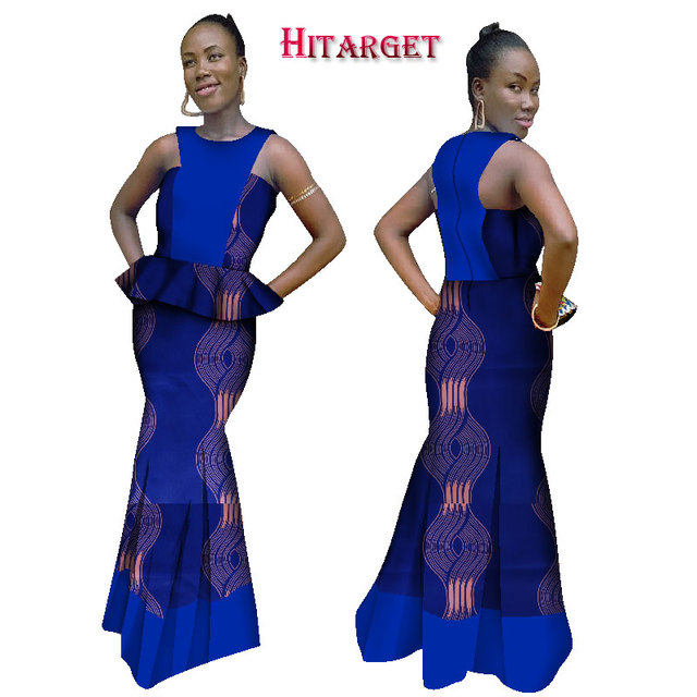 56a65ddfe91e7 Hitarget 2019 African Fashion Ankara Dashiki Prom Dresses for Women African  Women Long Cotton Dresses Traditional clothing WY986