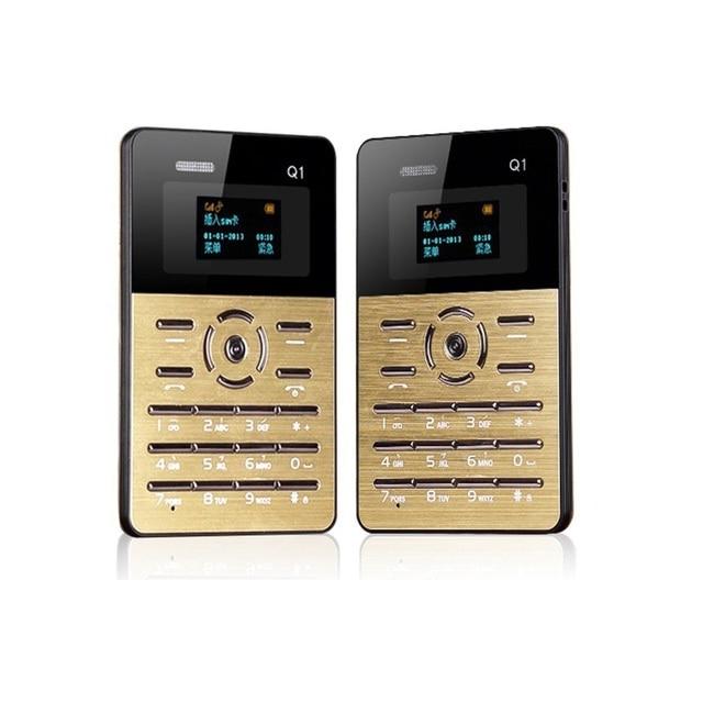 New Original AIEK Qmart Q1 Ultra-thin Pocket Mini Credit Card Children Student Low Radiation Mobile Cell Phone