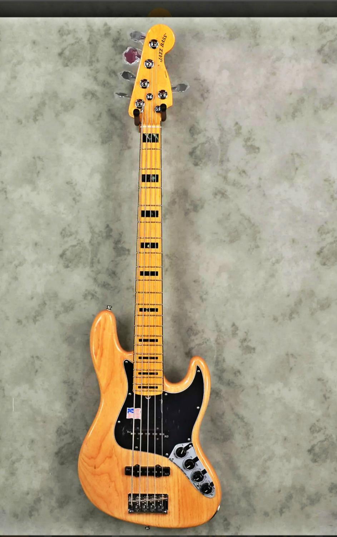 Tangwood высокое качество GYJB 5020 Burly гитара с деревянным корпусом черная тарелка 5 струн клен гриф джазовая бас гитара, бесплатная доставка