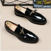 New oxford Black white italian tassel business Wedding men leather formal dress flats designer Moccasins Loafers shoes LH 61
