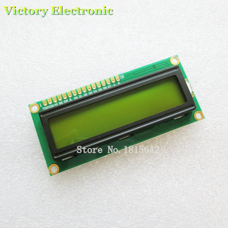 LCD1602 LCD Monitor 1602 5V Green Screen And Black Code LCD1602A LCD-1602-5V Backlight Wholesale