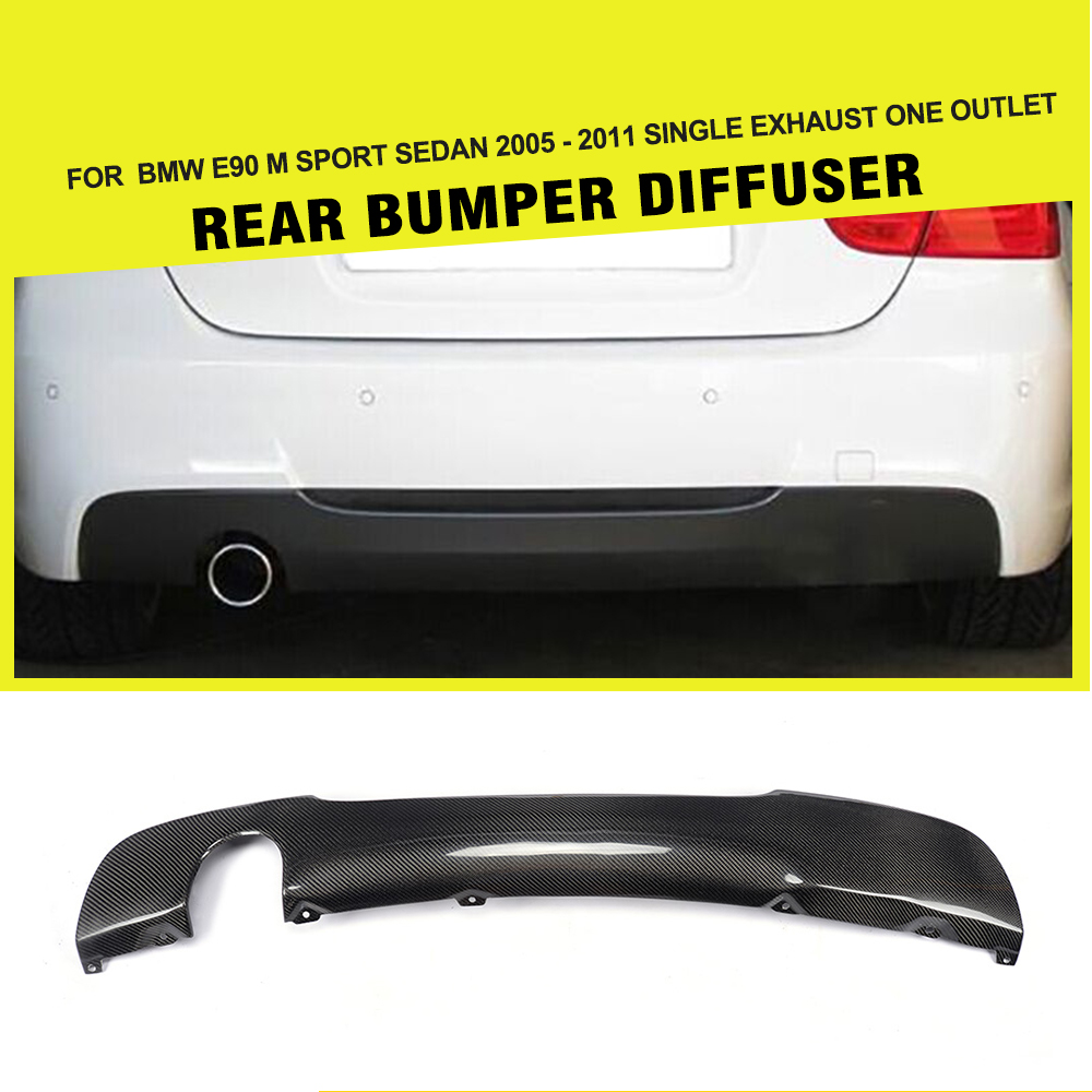 Car-Styling Carbon Fiber Rear Bumper Diffuser Lip Spoiler for BMW 3 Series M Tech Sedan 2005 - 2011 image