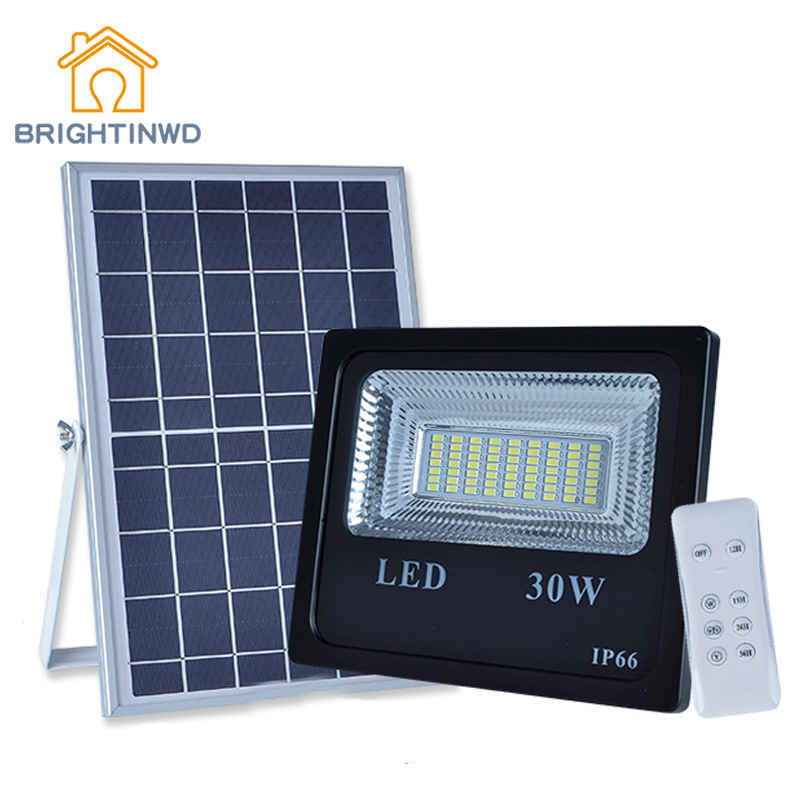 Solar Power Light LED Super Bright Floodlight 30W/50W/100W/150W Spotlight Waterproof Emergency Street Garden Lighting IP66