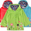 Kids Girls Flower Hooded Long Sleeve Waterproof Raincoat Rain Jacket Outwear Rain Coat Kids Rainwear R20