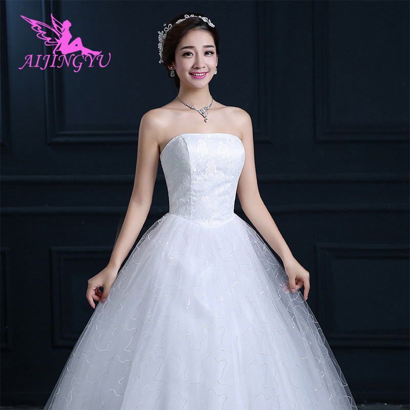 AIJINGYU 2018 princess free shipping new hot selling cheap ball gown lace up back formal bride dresses wedding dress FU161