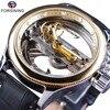 Forsining Automatic Self Wind Watch Top Luxury Mechanical Wristwatch Steampunk Sport Watch Genuine Leather Waterproof Clock