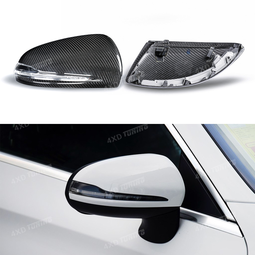 For Mercedes W205 mirror Carbon Fiber Rear View Mirror Cover E Class W213 C Class C205 S class W222 GLC Class Only for LHD 2014+