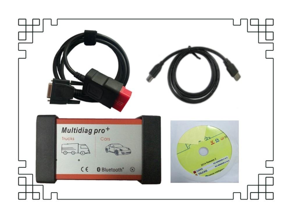 Multidiag pro+,3 CD Keygen как Подарок активировать VD TCS CDP pro plus+ bluetooth+ коробка ящик для автомобилей/Грузовики OBD2 сканер