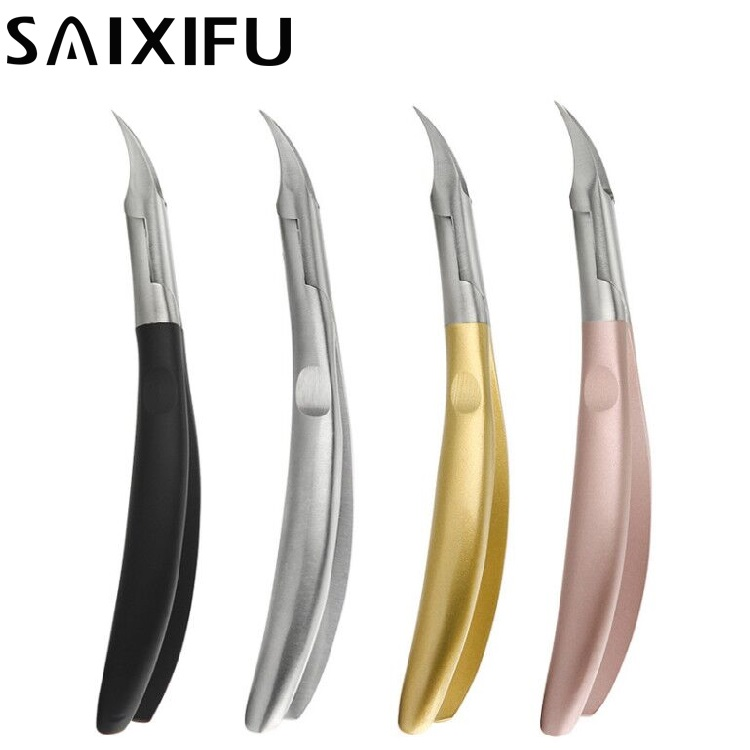Four Colors Foot Cuticle Scissors Pliers Feet Care Toe Nail Clippers Trimmer Cutters Paronychia Nippers Manicure Tool SF18