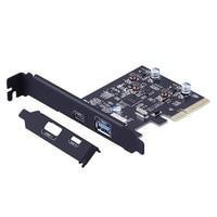 2 Ports External USB 3.1 (10Gbps) PCI Express Card tp 1 X Type C & 1 x Type A Port