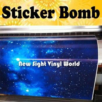 Stellar Sticker Bomb Roll Galaxy Sticker Bombing Galaxy Vinyl Wrap Bubble Free Size:1.50*30m/Roll