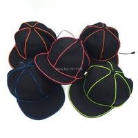 Wholesale 10 Pcs Bboy Hip Hop Caps 10 Colors Available Baseball Glowing Cap Cotton EL Hat