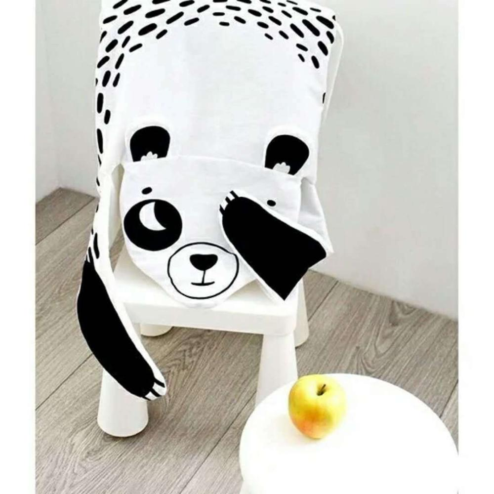 8 видов стилей модное мягкое детское одеяло игровой коврик детское одеяло-плед в виде медведя Тигр пеленальный коврик животных ковер теплый медведь игровые коврики осень-зима - Цвет: panda