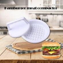 1 набор пищевого пластика круглой формы гамбургер мясо пресс гамбургер мясо говядина гриль бургер ПРЕСС Патти производитель плесень кухонный инструмент