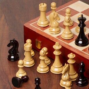 Image 4 - 高 グレードプラスチックチェスセット国際チェスゲームギフト折りたたみ木製チェス盤absプラスチック鋼チェスの駒駒I59